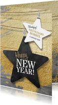 Nieuwjaarskaart zakelijk ster borrel