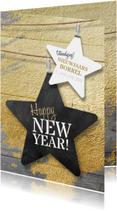 Nieuwjaarskaart zakelijk ster