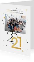 Nieuwjaarskaart zakelijk sterren 2021 grafisch modern