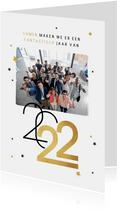 Nieuwjaarskaart zakelijk sterren 2022 grafisch modern