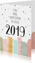 Nieuwjaarskaarten   Fijn, zalig en schitterend 2019
