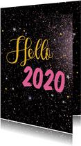 Nieuwjaarskaarten Hello 2020