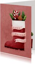 Nikolauskarte mit Nikolausstiefel
