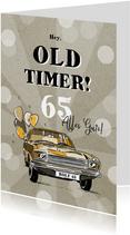 Oldtimer Geburtstagskarte