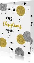 Kerstkaart grappig - OMG Christmas again
