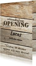 Openingskaart met steigerhout