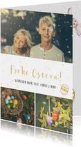 Ostergrußkarte Frohe Ostern mit eigenen Fotos