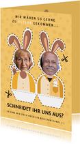 Osterkarte Bastelbogen Foto 2 Personen