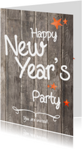 Oud en Nieuw feest  uitnodiging