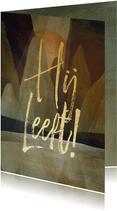 Paaskaart Hij Leeft! geschilderd landschap