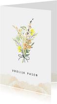 Paaskaart lente boeket