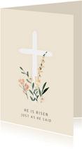 Paaskaart pastel kruis