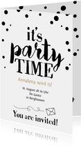 Party-Time Einladung zum 15. Geburtstag