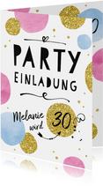 Partyeinladung Happy Dots