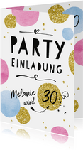 Partyeinladung Happy Dots