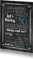 Partyeinladung Kreidetafel