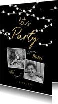 Partyeinladung Let's Party mit Fotos