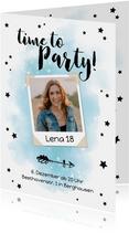 Partyeinladung zum Geburtstag 'Time to party' mit Foto
