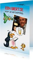 Penguins foto verjaardag 5 Pinguïn denkt aan bier