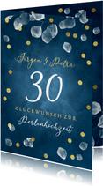 Perlenhochzeit Glückwunschkarte 30 Jahre