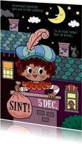Sinterklaaskaarten - Piet in de schoorsteen