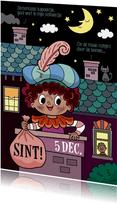 Piet in de schoorsteen