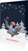 Pigeons Unleashed Kerstkaart