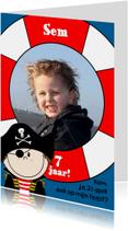 Piratenfeest FOTO kaart
