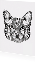 Poes zwart/wit illustratie