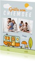 Postkarte Fotos Campingurlaub