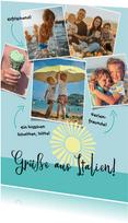 Postkarte Urlaubsfotos mit Beschreibung