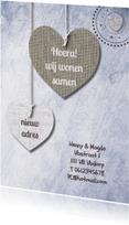 Print van hangende harten & txt