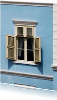 Raam tafereel in blauw huis - OT