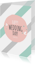 Religie kaarten Christelijk Happy wedding day