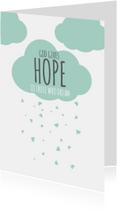 Religie kaarten Christeljk God gives hope