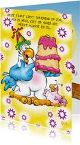 rocco gefeliciteerd 3 papegaai met taart