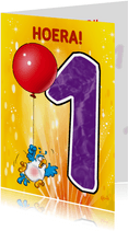 Rocco leeftijd 1 papegaai aan ballon RN