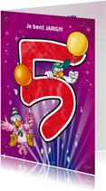 Rocco leeftijd 5  papegaaien met ballonnen RN.