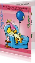 Rocco verjaardag papegaaitje ballon