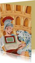 Romeinse gladiator kaart