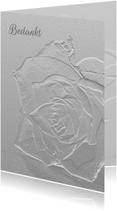 Rouw breekbaar glazen roos