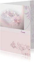Rouwkaart orchideebloem