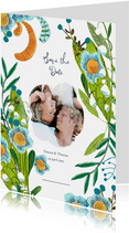 Save the Date botanisch bohemian trend