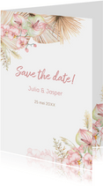 Save the date droogbloemen orchidee
