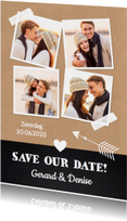 Save the Date fotocollage Kraft