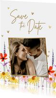 Save-the-Date-Fotokarte Hochzeit Blumenwiese