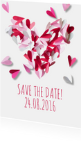 Save the date hart papier