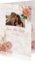 Save the date hortensiabloemen