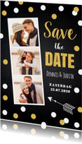 Save the Date kaart confetti fotocollage