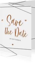 Save the Date kaart  in geometrische stijl